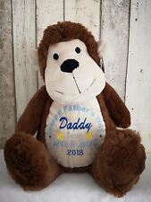 Personalised Father's Day Monkey Teddy bear gift.