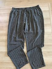 Principles Ben De Lisi Black Diamond Print Trousers Size 16 RRP £35