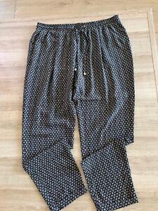 Principles Ben De Lisi Black Diamond Print Trousers Size 16 RRP £35