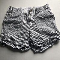Gap Striped Girlfriend Chino Short Linen Blend Sz 8 A1379