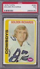 1978 Topps #494 GOLDEN RICHARDS PSA 7 NM Dallas COWBOYS / HAWAII