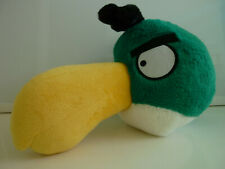 "Angry Birds Plush Toucan Hal Stuffed 8"" x 12"" Green Bird Toy Rovio Commonwealth"