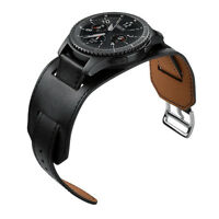 22mm Smartwatch Band Cuff Strap For Samsung Gear S3 Frontier Classic Black