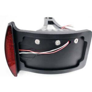 Side Mounted License Plate Tail Brake LED Light Assembly for Harley Honda Suzuki