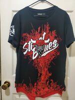 Street Bullies Chicago Bulls 23 Jordan Shirt Large NBA Bandana Paint Spatter G21