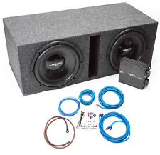 "Skar Audio Dual 12"" Complete Loaded Subwoofer Bass Package with Amplifier"