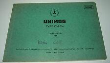 Ersatzteilkatalog Mercedes Unimog Motor Typ OM 314 Ersatzteilliste Stand 1966!