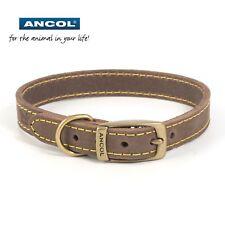 Ancol Timberwolf Leather Dog Puppy Collar Sable Blue Grey Free UK P&P