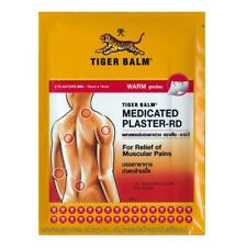 Large Tiger Balm Medicated Plasters 2 Pc WARM - 10 x 14 cm - Back & Muscle Pain