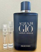 Giorgio Armani Acqua di Gio Profondo (New 2020 Release) 5ml 10ml Glass Decant Sa