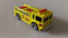 Voiture Miniature Hotwheels « Camion Pompier Jaune » 1976 En Très Bon Etat.