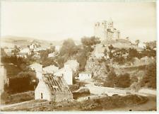 France, Puy-de-Dôme, Saint-Nectaire et vue de l'église, ca.1905, vintage ci