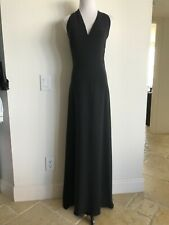 BALENCIAGA Black Sleeveless Draped Front Gown with Side Slit - Size 38