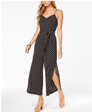 04b8667a3099 NWT Monteau Black and White Polka dot belted split leg jumpsuit Large