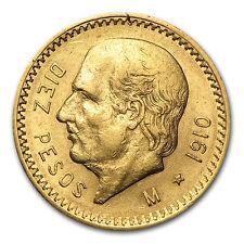 1910 Mexico Gold 10 Pesos AU - SKU #27693
