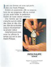 ▬► PUBLICITE ADVERTISING AD Montre Watch PHILIPPE PATEK Nautilus 1991