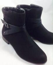 Evans Women's Faux Suede Zip Shoes