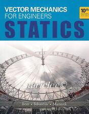 Vector Mechanics for Engineers Statics 10E Beer Johnston 10th Si Units Edition