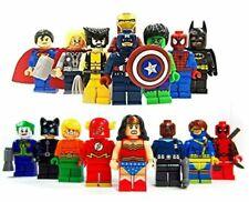 Marvel Avenger Super Héroes Fit Lego Mini Figura Thor Hulk Batman Superman