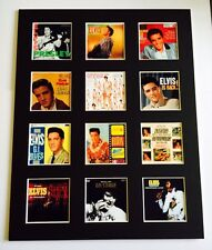 """ELVIS 14"""" BY 11"""" LP DISCOGRAPHY COVERS PICTURE MOUNTED READY TO FRAME"""