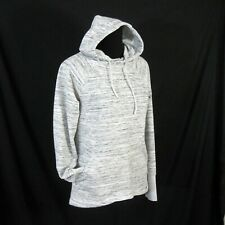 Avalanche Pullover Hoodie Gray & White Size Medium Thumbhole Sleeves