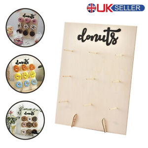 9 Donut Wall Stand Wooden Doughnut Sweet Candy Birthday Wedding Party Decor UK .