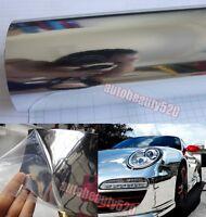 "Bubbles Free - Car Mirror Chrome Silver Sheet Wrap Vinyl Sticker Film 12"" x 60"""