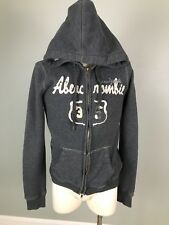 Abercrombie & Fitch Gray Hoodie Sweater Jacket Full Zip See Measurements