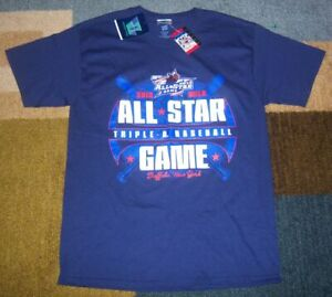 NEW w/TAGS Authentic BUFFALO BISONS Blue 2012 AAA All-Star Game SHIRT M jersey