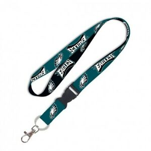 "Philadelphia Eagles 22"" Detachable Team Logo Colors Quality Lanyard Keychain NWT"