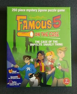 Famous Five THE CASE OF THE IMPOLITE SNARLY THING Mystery Jigsaw Puzzle Game NEW
