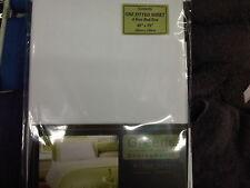 Verts 4 pieds en polycoton percale 180thread blanc drap petit lit double
