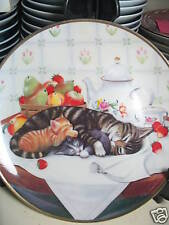Franklin Mint 1991 Cat Nap Mother & Babies Ltd Ed Plate