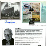 2004 OCEAN LINERS MINIATURE SHEET SIGNED CHRIS KELLY BENHAM FIRST DAY COVER