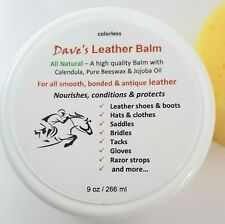 Dave's Leather Balm for Equesterian gear