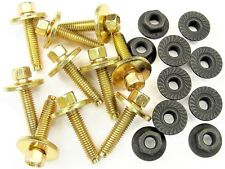 Volkswagen Body Bolts & Flange Nuts- M6-1.0mm x 28mm Long- 8mm Hex- Qty.20- #382