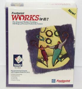 1993 Footprint Works 1.0 for IBM OS/2 - box set new in original shrink-wrap