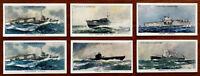 Modern Naval Craft. John Player & Sons 6 x Cigarette Cards.