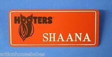 ORANGE HOOTERS GIRL NAME TAG PIN (name in white) SHAANA