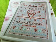 CROSS STITCH CHART  RUBY WEDDING ANNIVERSARY SAMPLER CHART