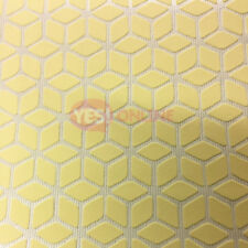 3D Effect Geometric Wallpaper Textured Vinyl Yellow Metallic Silver Erismann