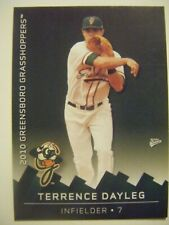 TERRENCE DAYLEG signed 2010 GREENSBORO baseball card AUTO WESTERN KENTUCKY NC BC
