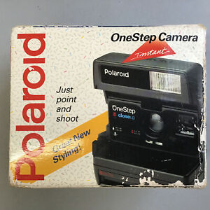 Vintage Polaroid One Step Close Up Instant 600 Plus Camera With Box