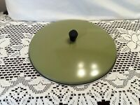 """Sears 10 1/2"""" Replacement Stainless Steel Lid For Frying Pan Dish Avocado Color"""