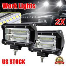 "2PCS 5""Inch 12V 672W LED Work Light Bar Flood Pods Driving Off-Road Tractor 4WD"