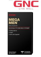 GNC Mega Men Immune Health Support Antioxidant Heart 90 capsules
