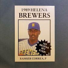 1989 Sports Pro HELENA Brewers #15 RAMSER CORREA Carolina PUERTO RICO