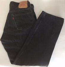 Levi's Mens 501-0660 Straight Leg Jeans 36Wx 30L Black Red Tag Button Fly Mexico