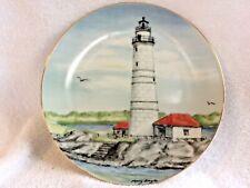 Lefton's Historic American Lighthouse Plate Mary Lingle Boston Harbor # 1202 Coa