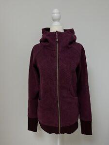 LULULEMON Women's Scuba Hoodie Jacket Activewear Full Zip Burgundy Red Size 8